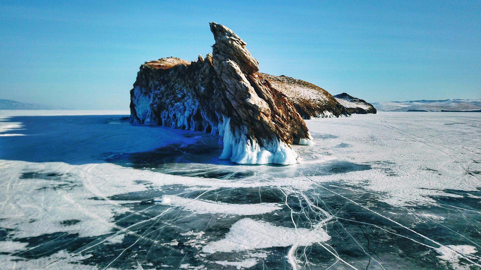 La vista sul lago Bajkal