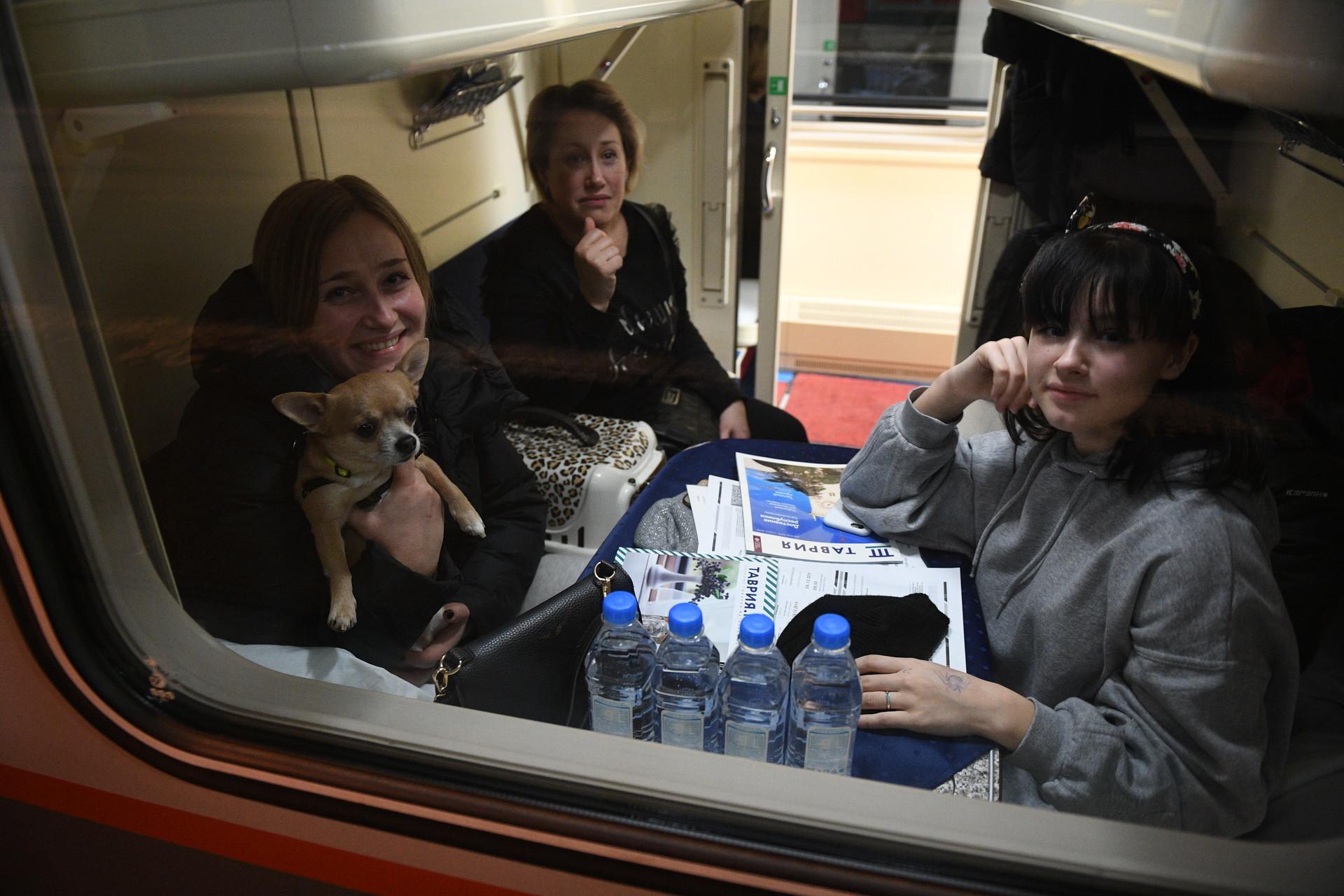 Казањ: тргна првиот воз за Симферопол