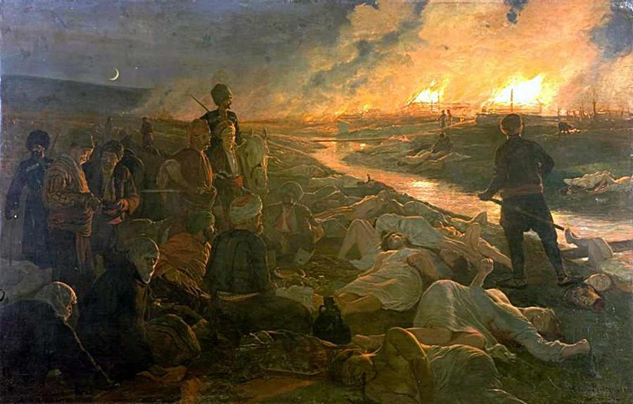 Антоний Пиотровский. Батакская резня, 1889