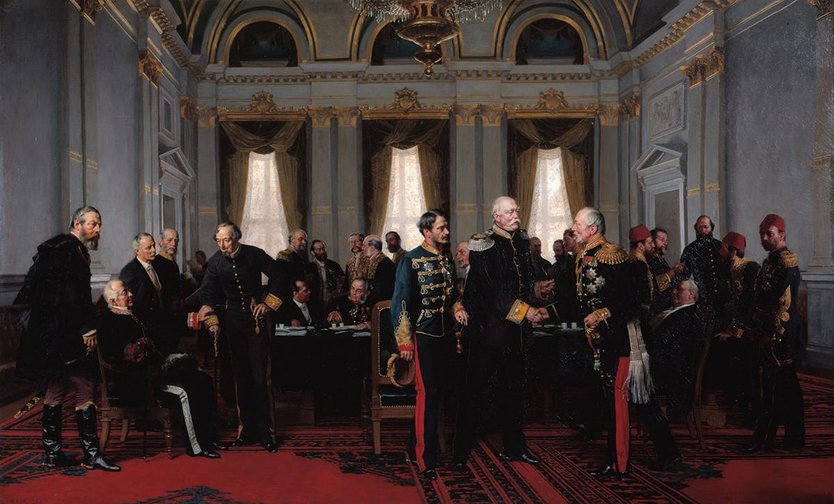 Антон фон Вернер. Берлинский конгресс, 1881.