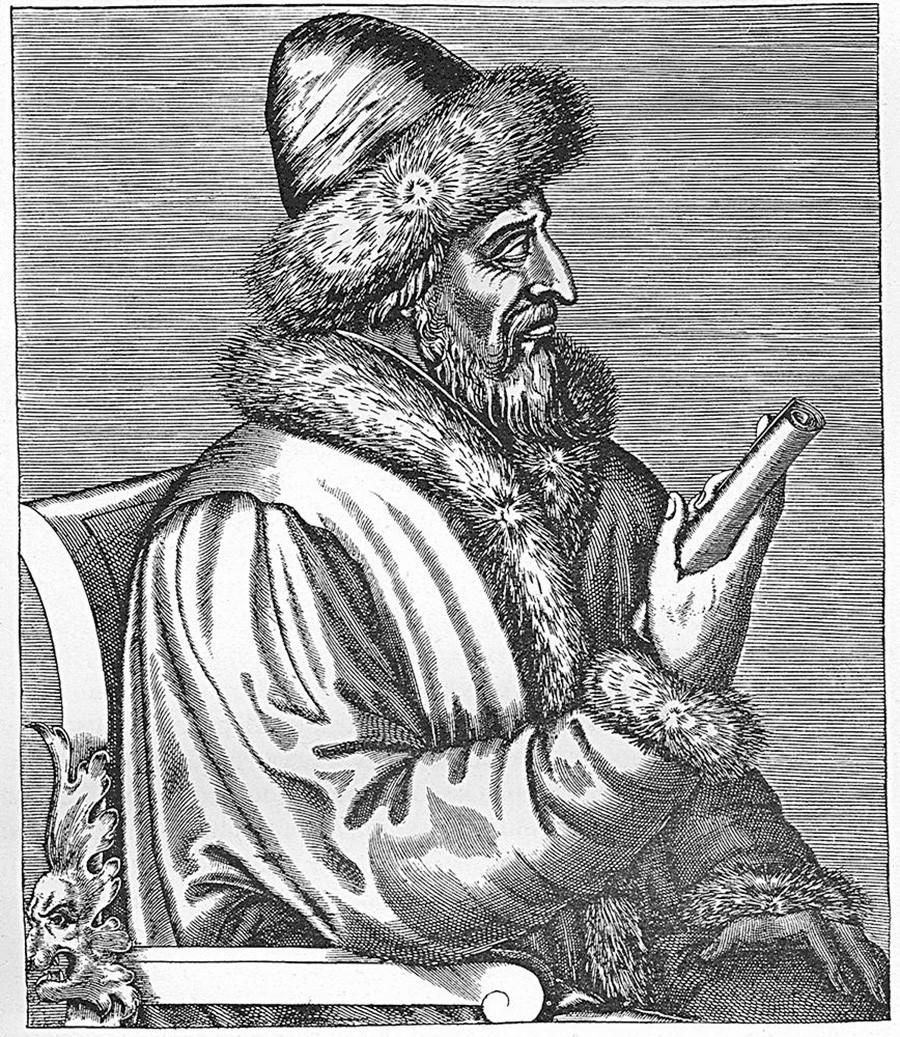 Василиј Трети на француска гравура, Андре Тевет.