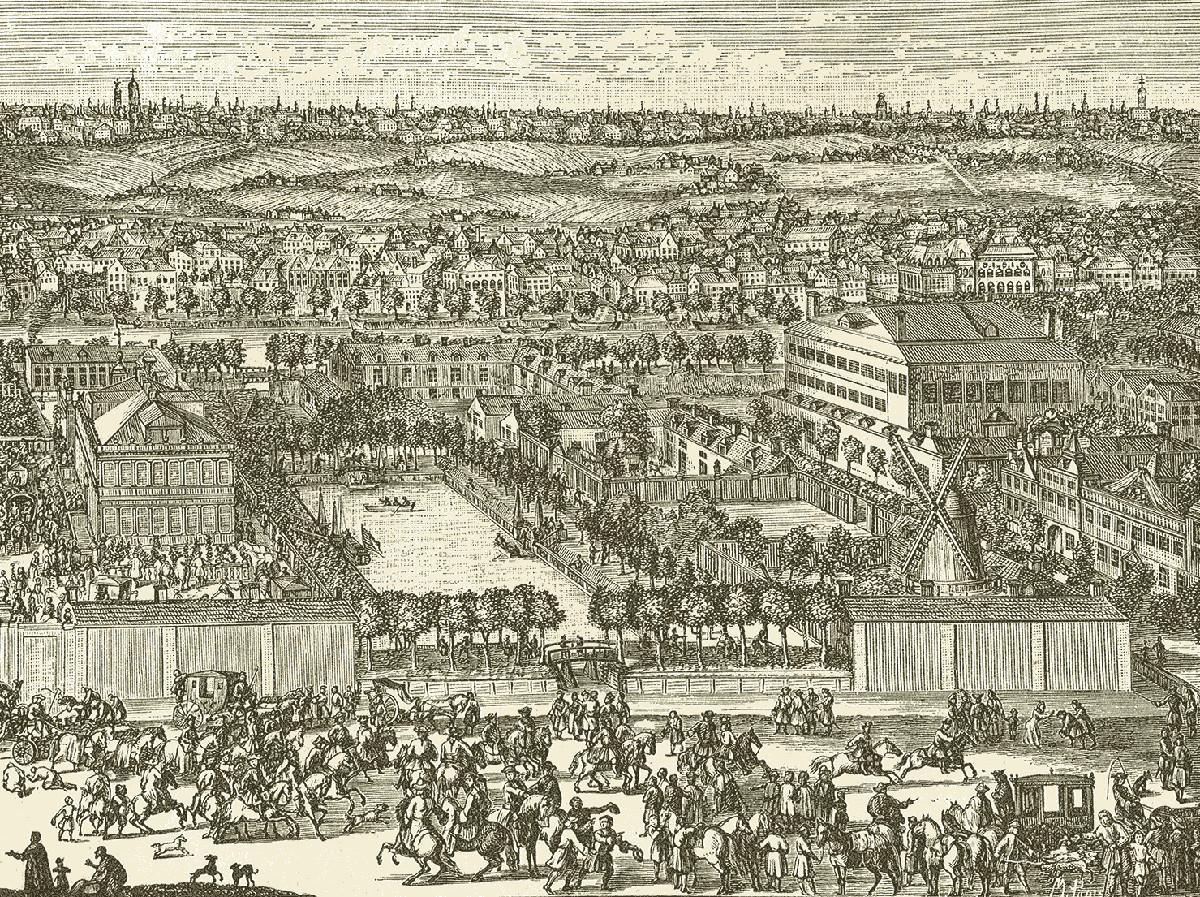 Населбата Немецкаја слобода. Од гравурата на Хенрик де Вито, почеток на 18 век