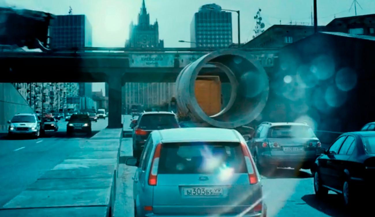 映画で使われたモスクワの風景。