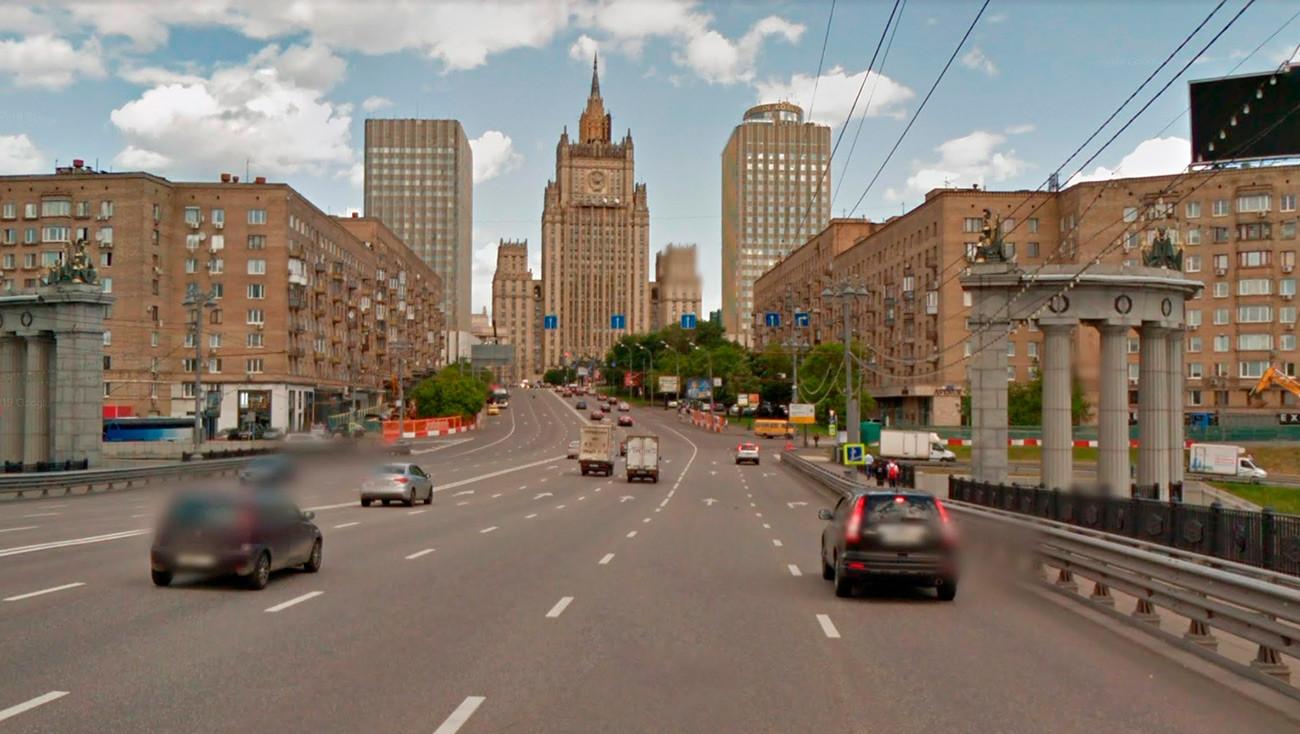 本当のモスクワの景色。