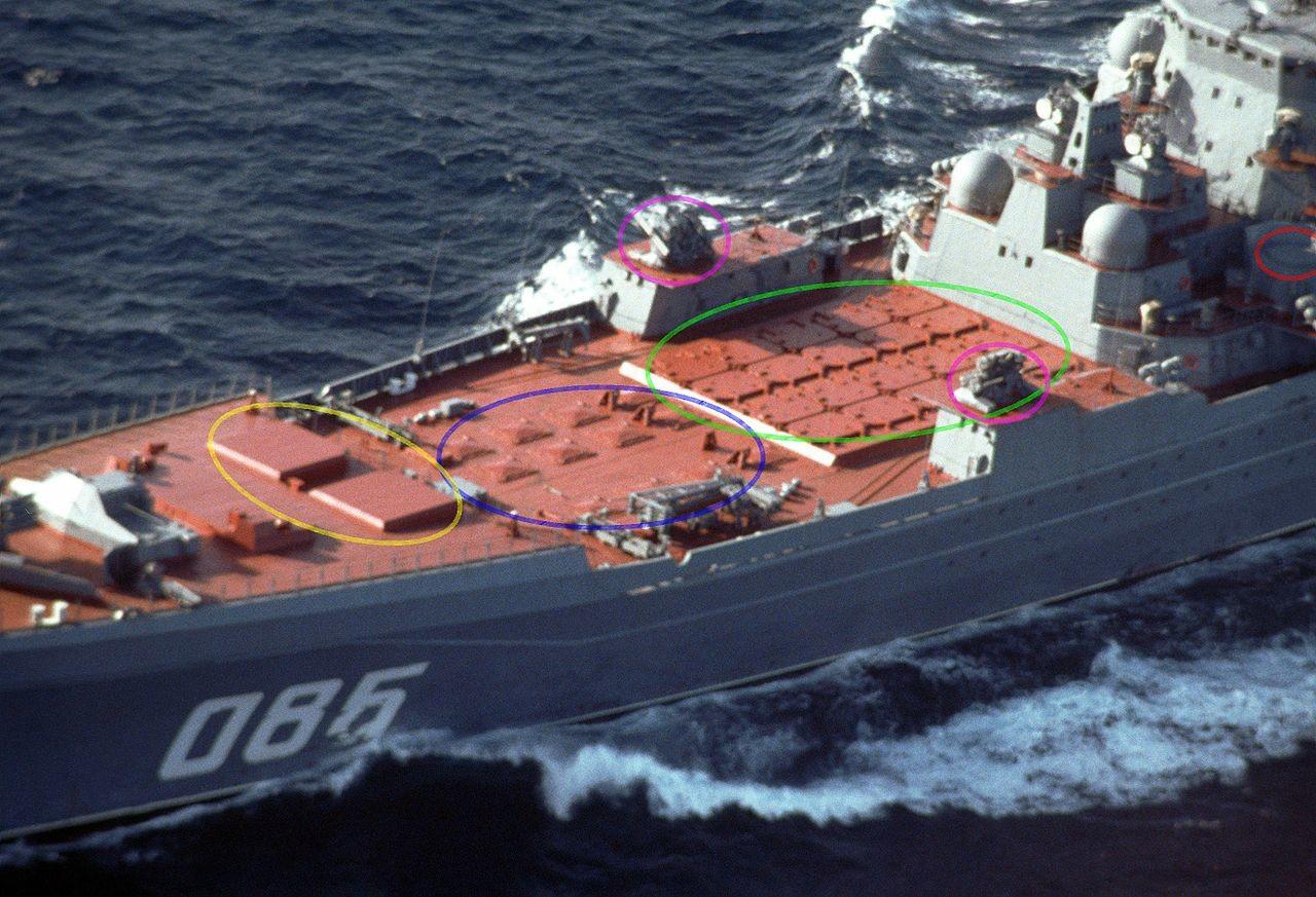 Vertikalni lanserji (primer križarke Admiral Nahimov)