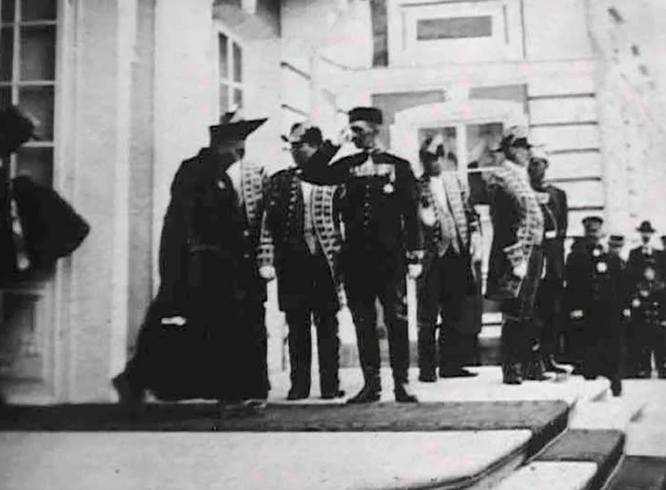 Agvan Dorzhiev nach seiner Audienz beim Zaren im Jahre 1901 in Petershof