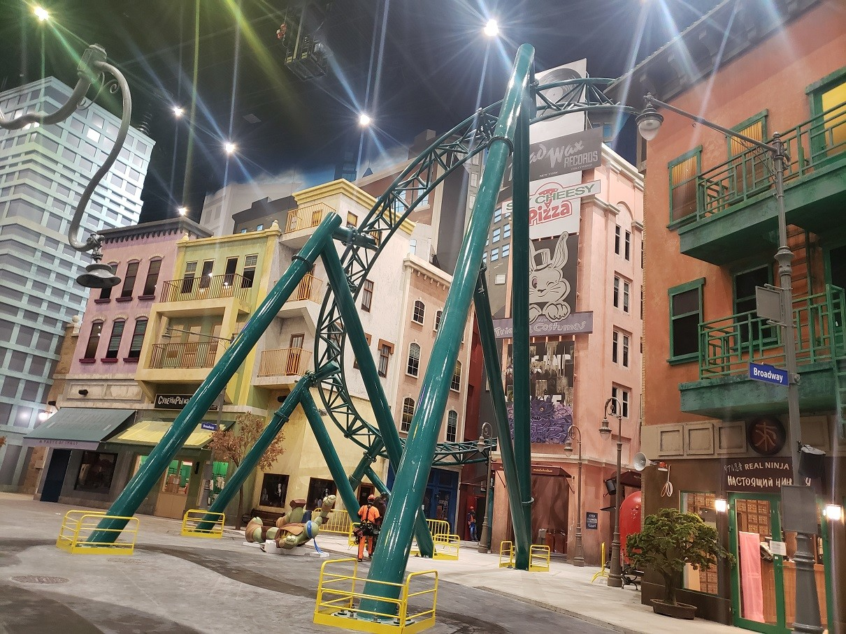 Ninja Turtles zone is home to the park's only roller-coaster, most of the ride will be in the dark at 80 km per hour