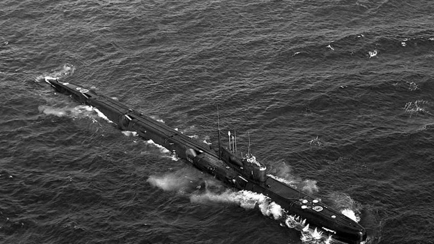 Un submarino del proyecto 675 que contaba con misiles alados.