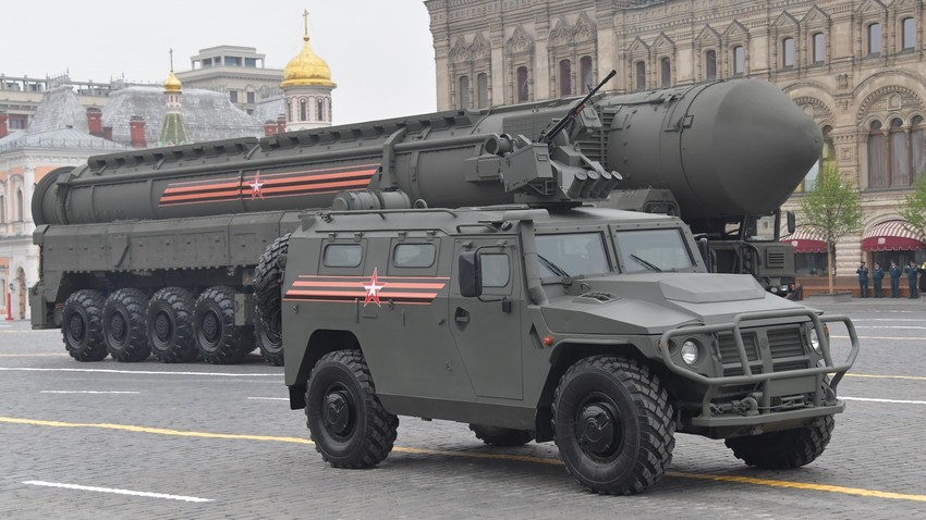 Смотра војне технике на прослави Дана победе, Црвени трг, Москва, 2019.