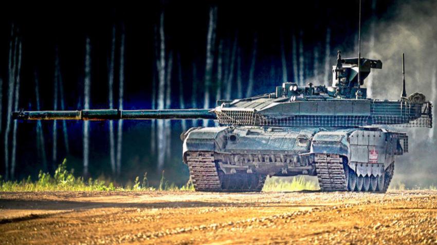 """Т-90М на динамичната презентација """"Армија-2018"""""""