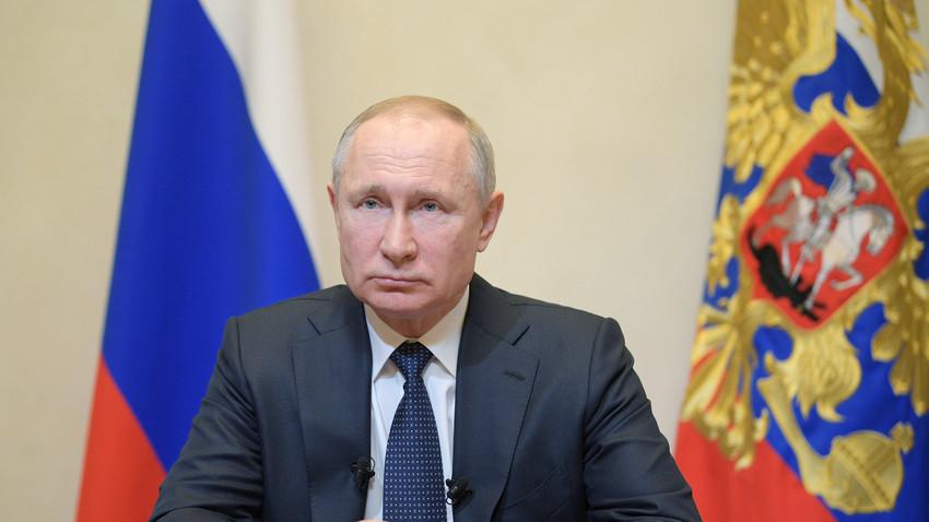 Обраќање на претседателот на Русија Владимир Путин, 25.03.2020.