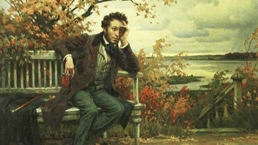 """""""Pushkin in Mikhaylovskoye"""" by Boris Scherbakov, 1969"""