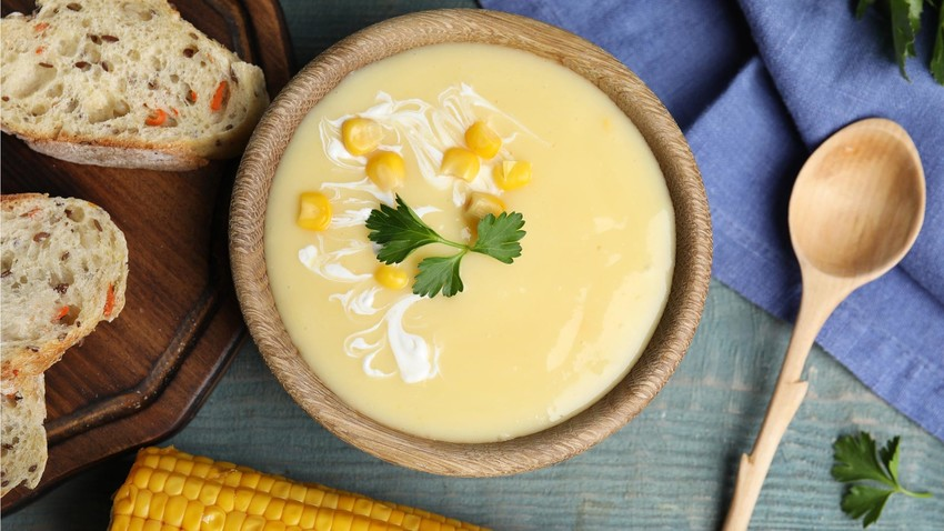 Canned corn soup