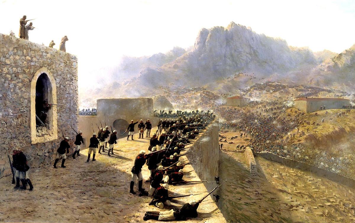 Отблъскването на нападението на крепостта Баязет 8 юни 1877, 1891 г. Лев Лагорио