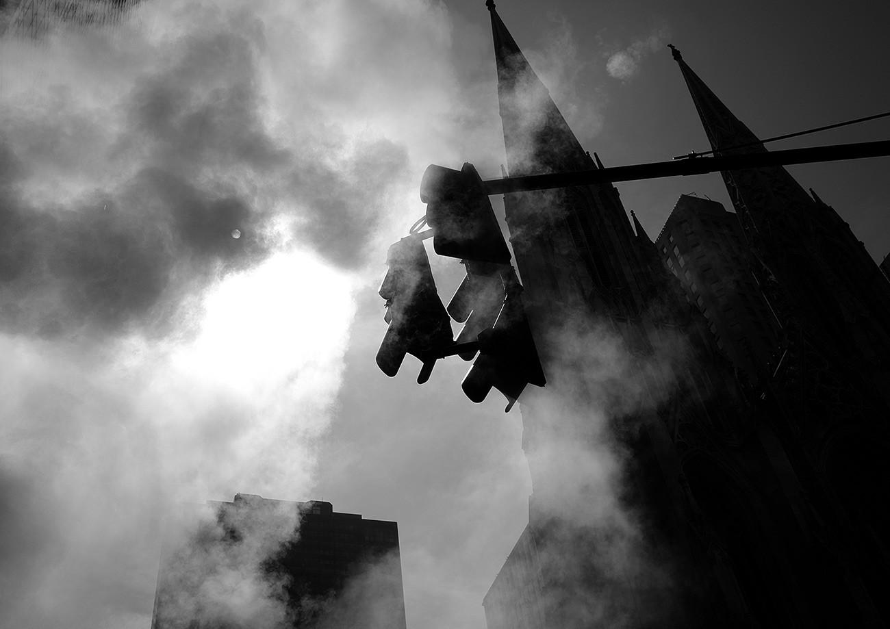 Steam on New York streets