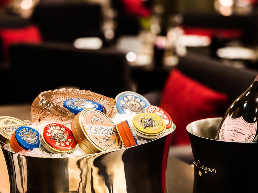 Caviar bar in Belmond Grand Hotel Europe, Saint-Petersbourg