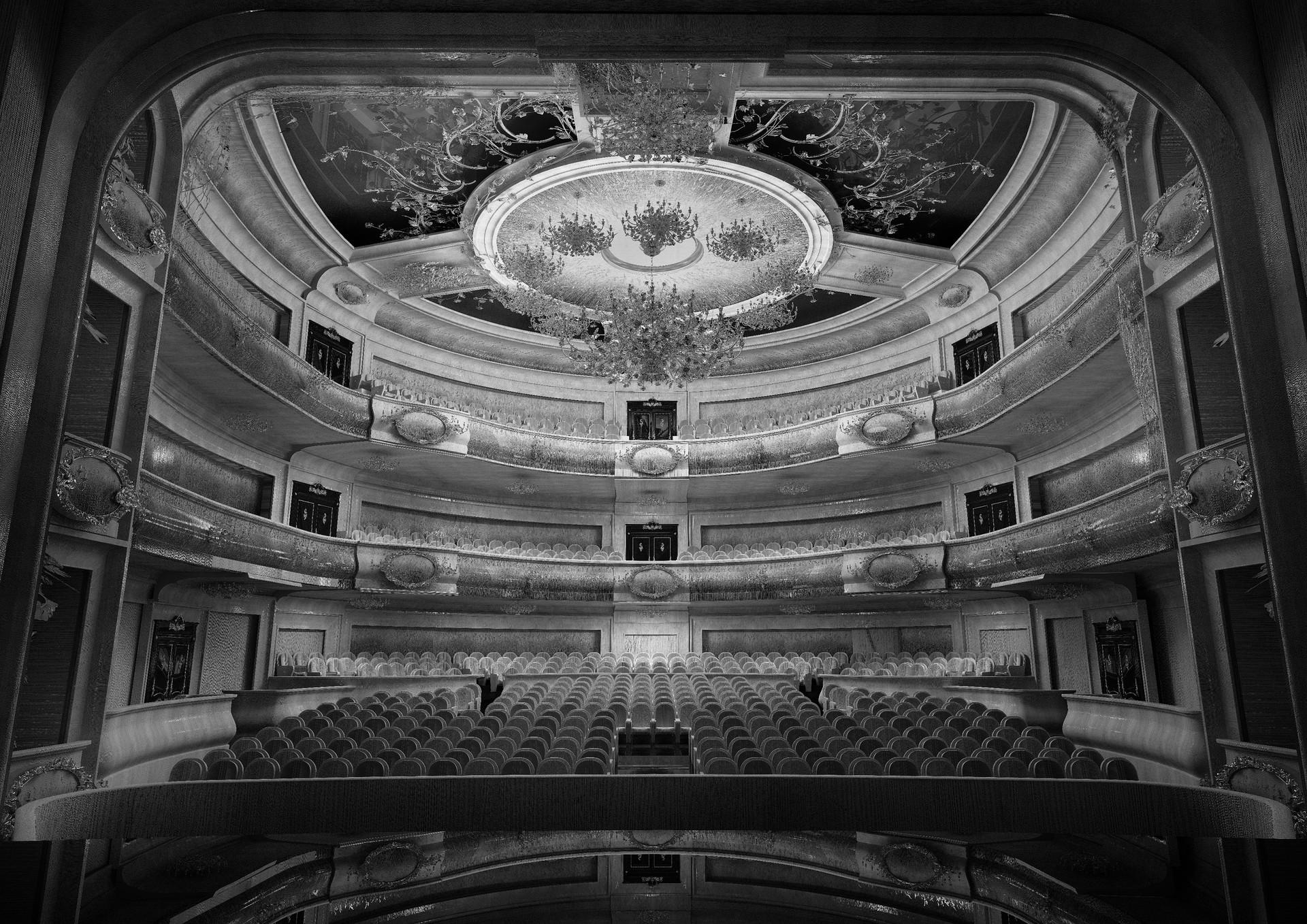 Opera. Progetto d'interno per il Teatro dell'Opera di Voronezh, 2017, carta, stampa serigrafica