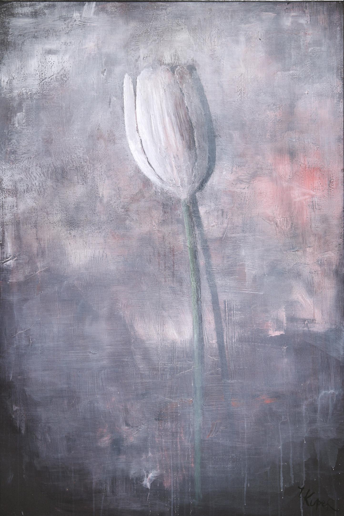 Tulipano, 2019, tela, tecnica mista