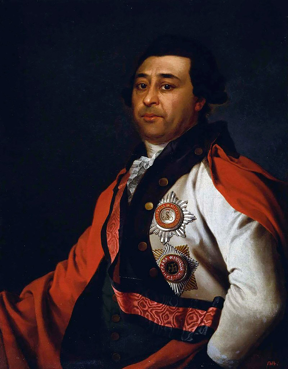Иван Абрамович Ганнибал (1735-1801), сын арапа Петра Великого