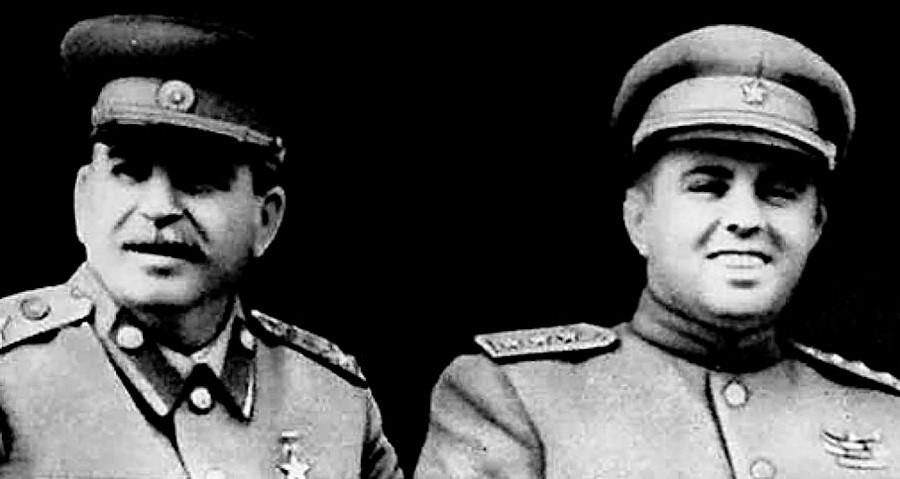Josef Stalin und Enver Hoxha