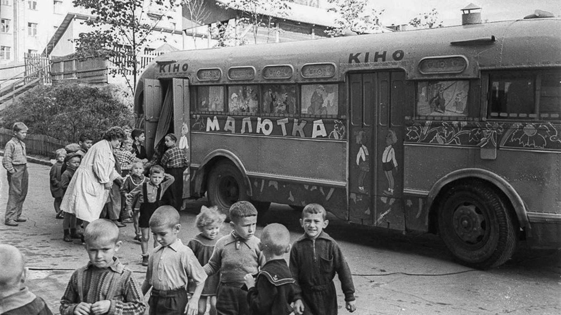 Malyutka cinema on wheels, Belarus SSR.