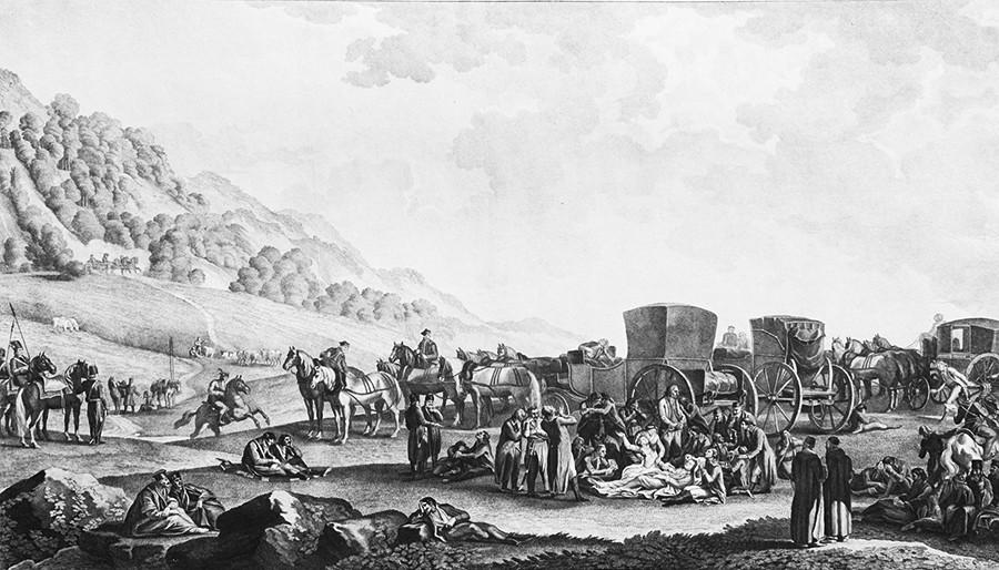 Tod von Grigori Potjomkin in der Steppe