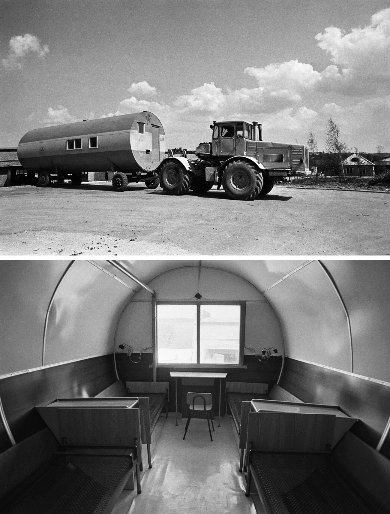 Mobile house for extreme weather conditions, Nizhny Novgorod Region, 1975.