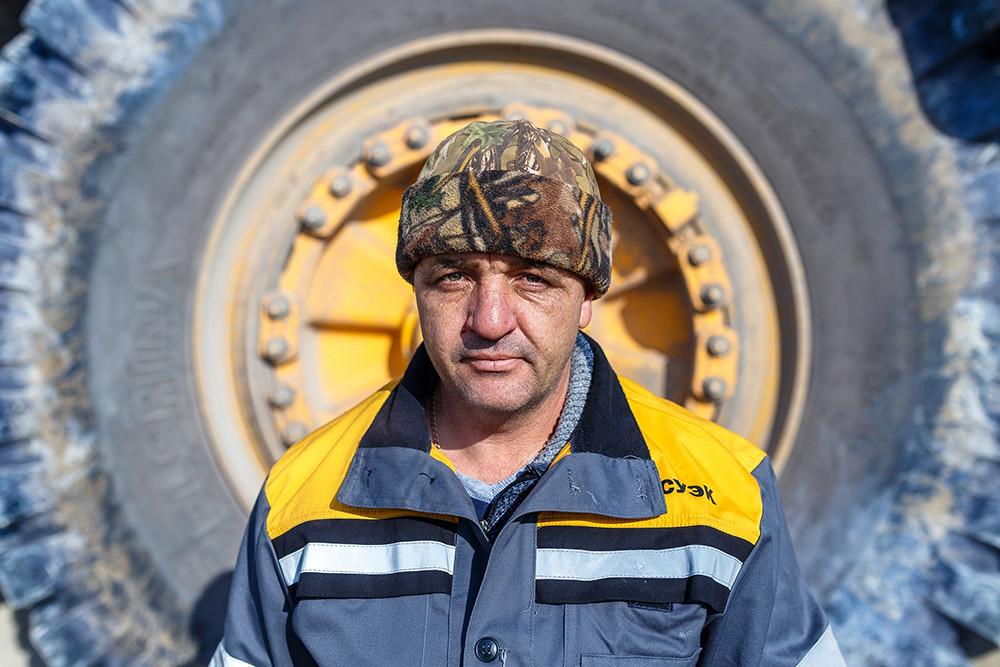 BelAZ heavy truck driver