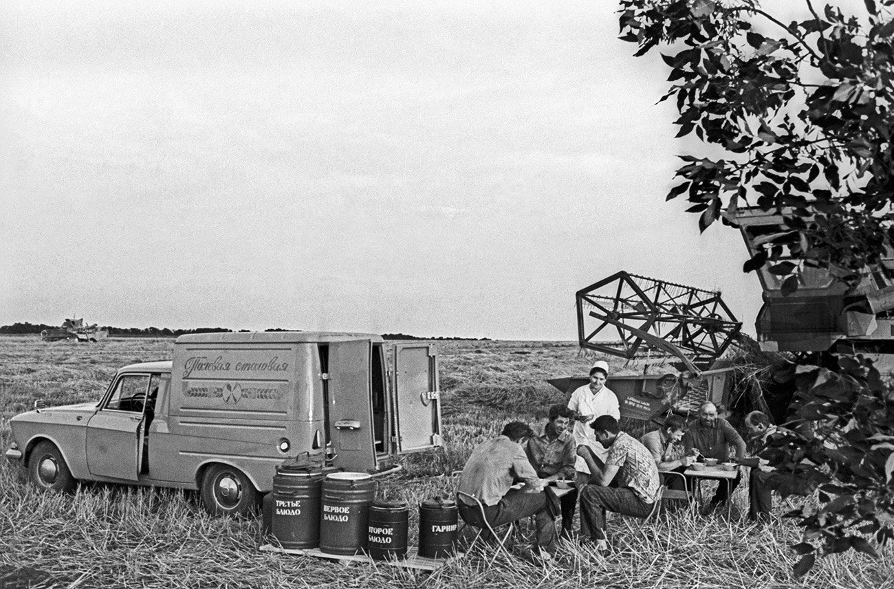 Пољска кухиња у Јанушевском совхозу, Ставропољски крај, 1977