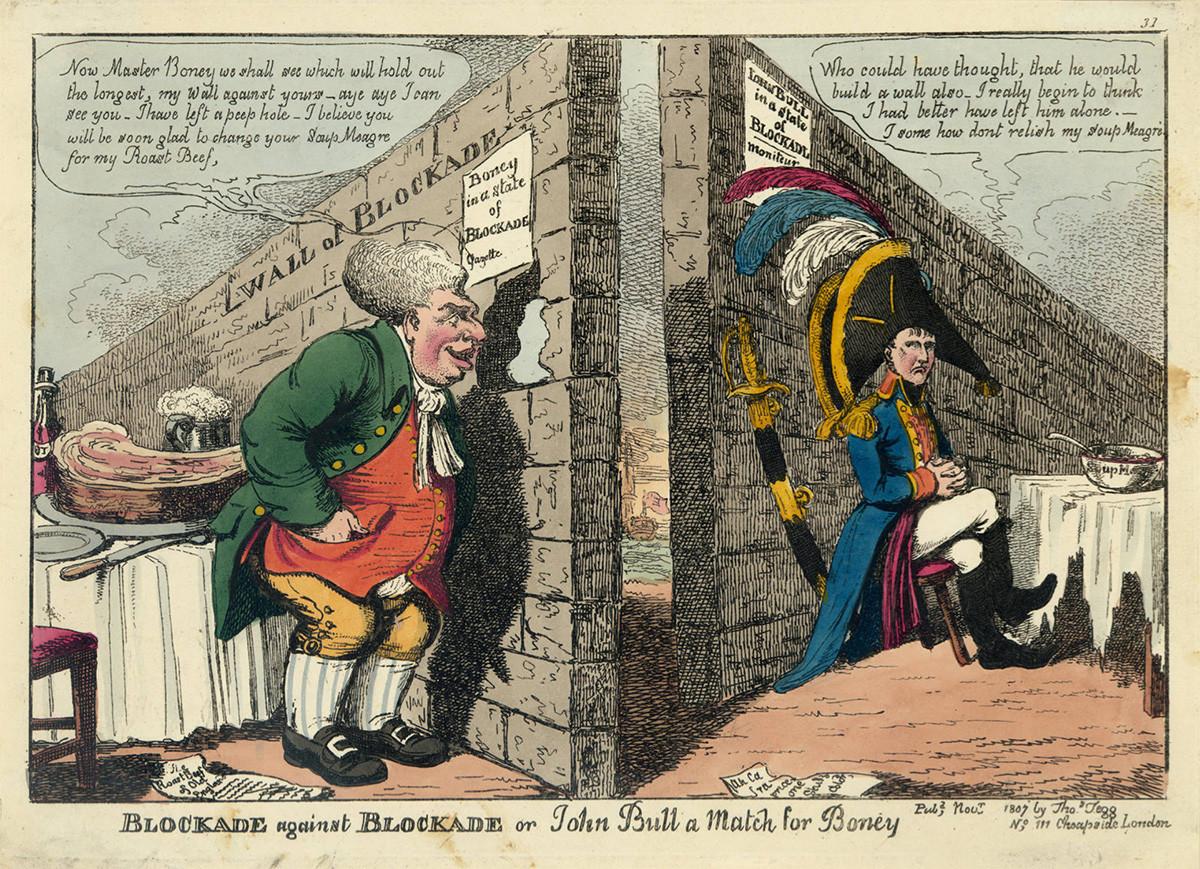 Blokada protiv blokade ili John Bull i Boney, 1807.