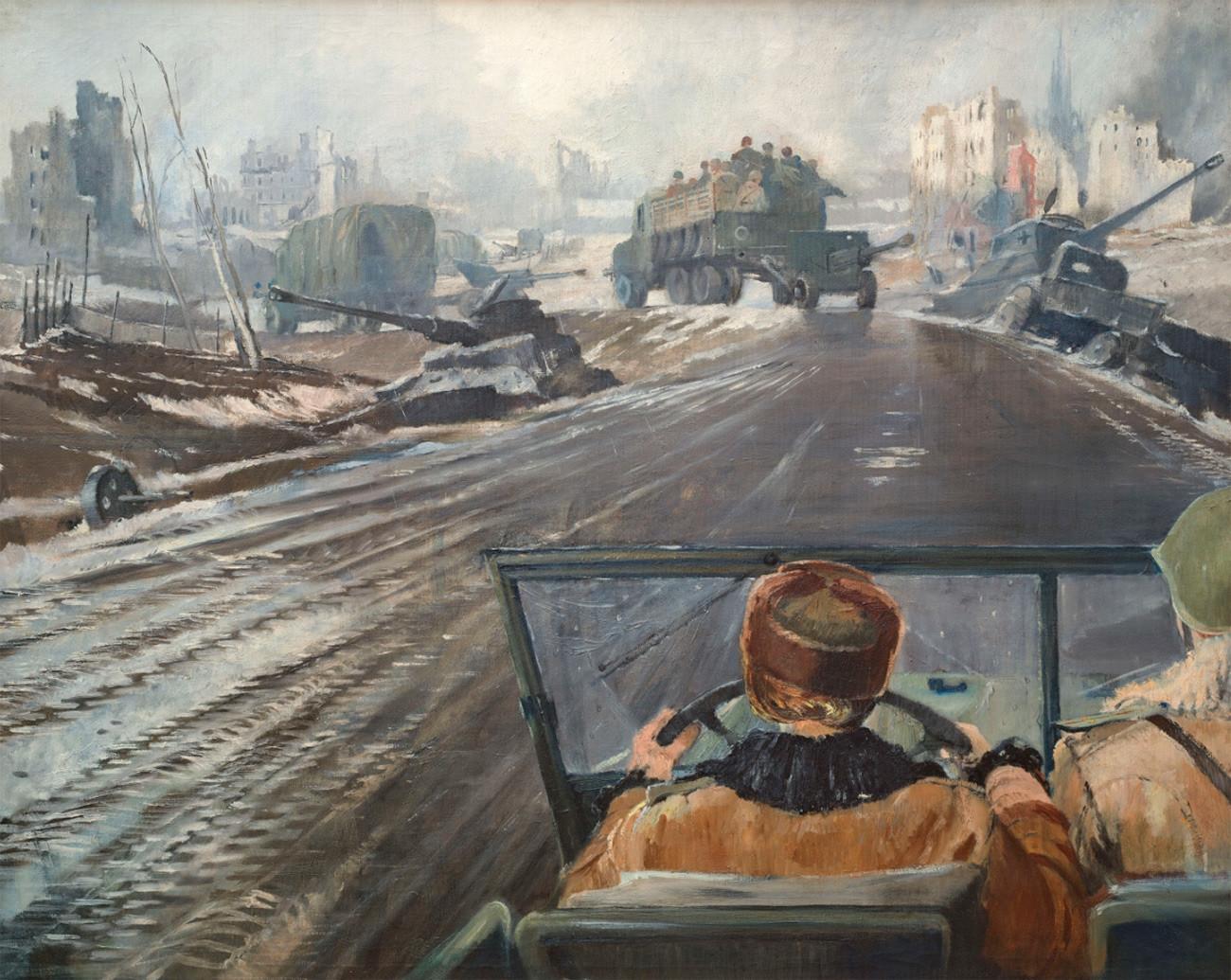 Route sur le front, 1944
