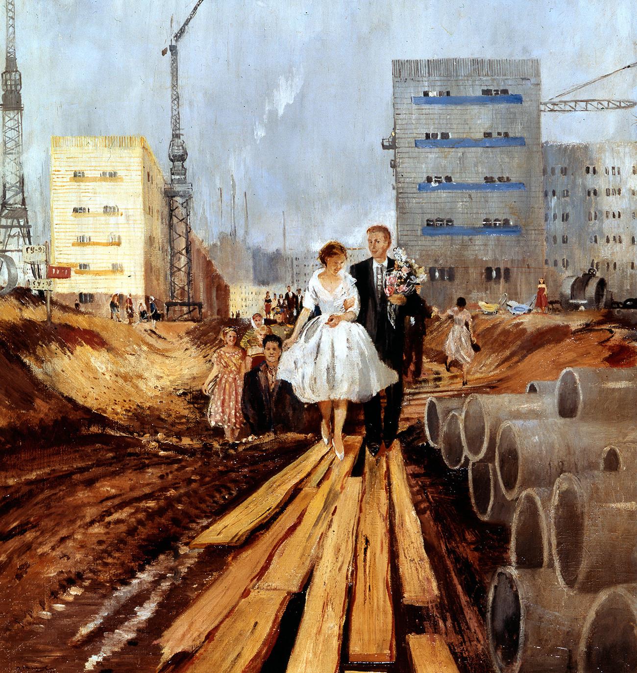 Mariage dans une rue de demain, 1962