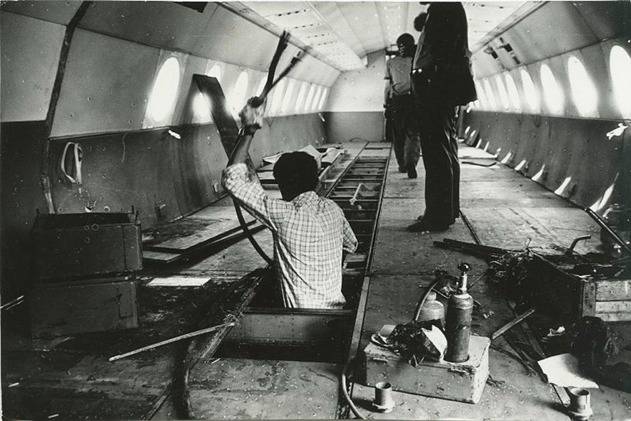 Pretvorba letala v kino, Novokuznetsk, 1981.