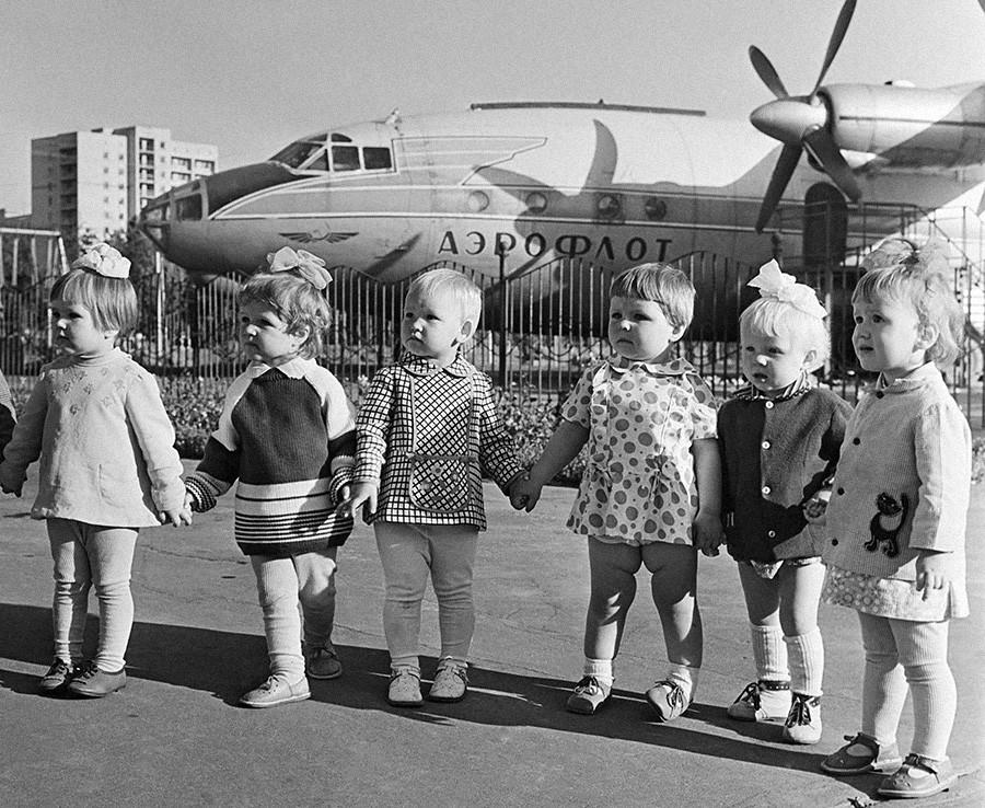 Pesawat bioskop di Voronezh, 1974.