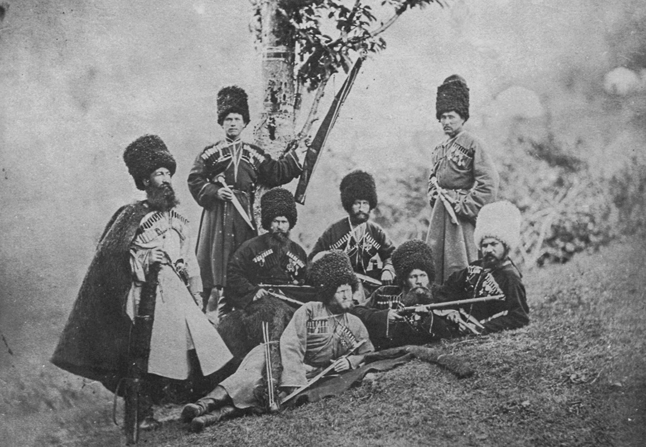 Photographe russe inconnu, Cosaques russes