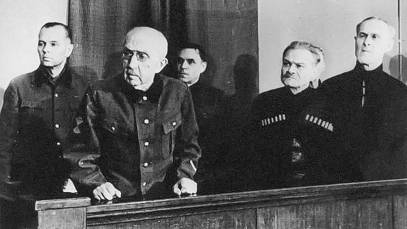 Procès de l'ataman Piotr Krasnov et autres. Janvier 1947