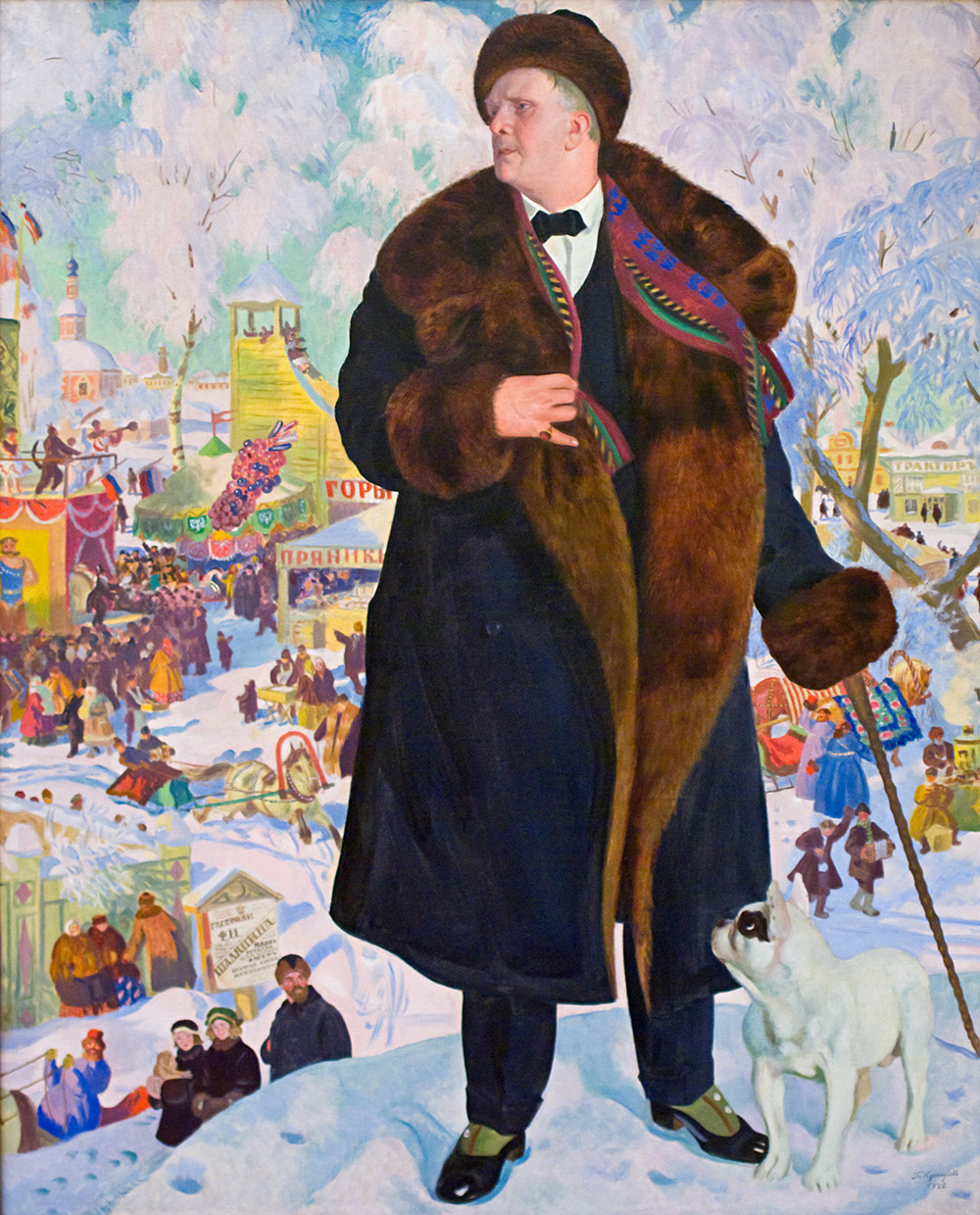 'Portrait of Chaliapin'. Boris Kustodiev. 1921.