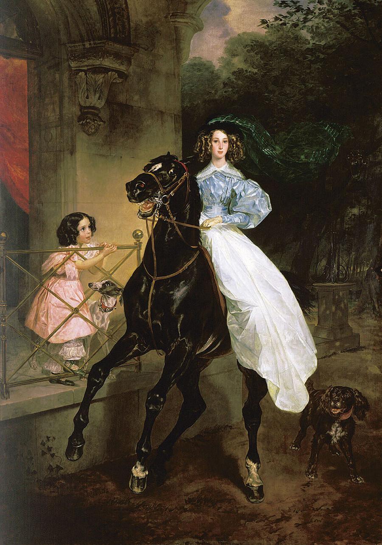 'Horsewoman'. Karl Brullov. 1832.