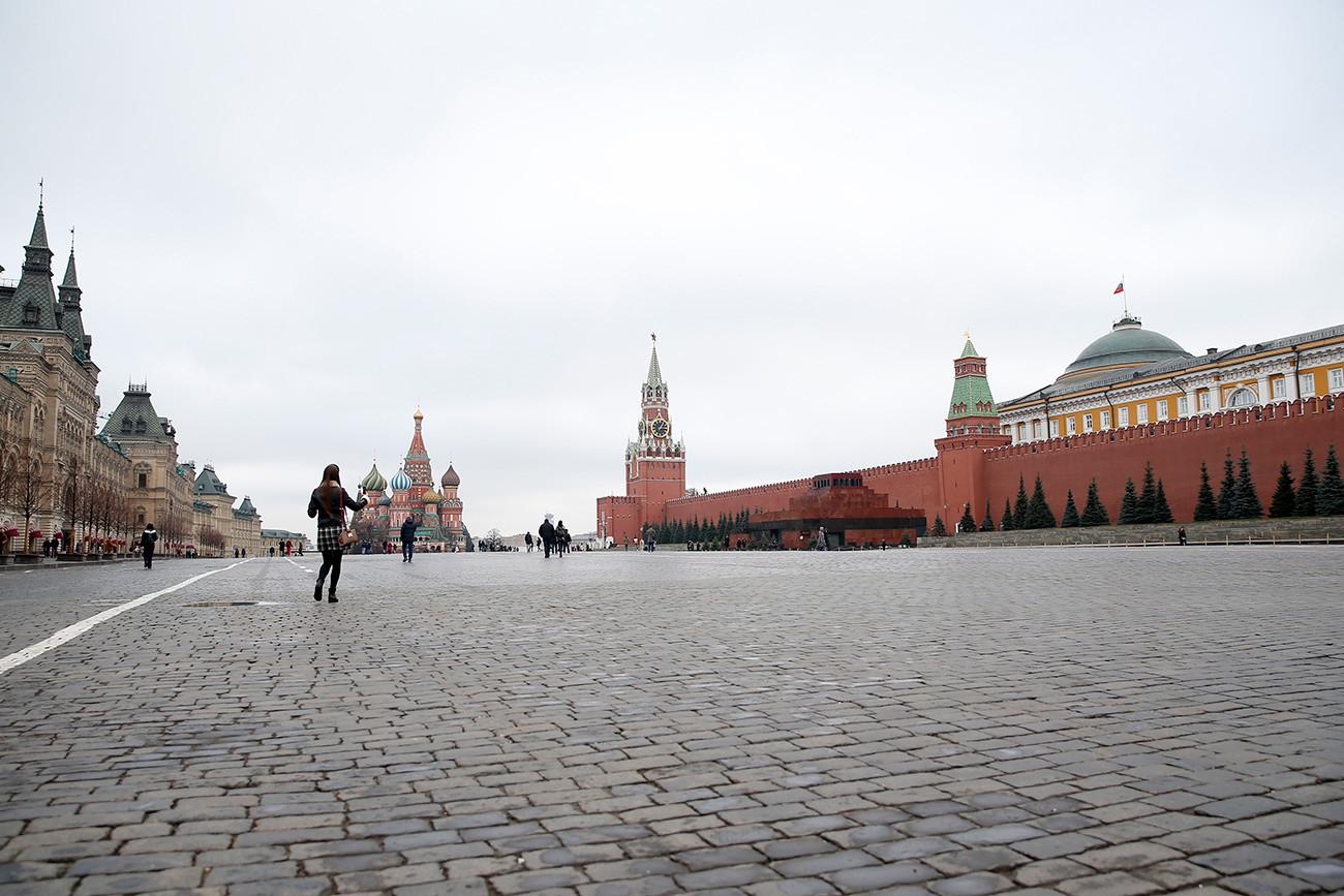 Червеният площад на 10 март 2020 г.