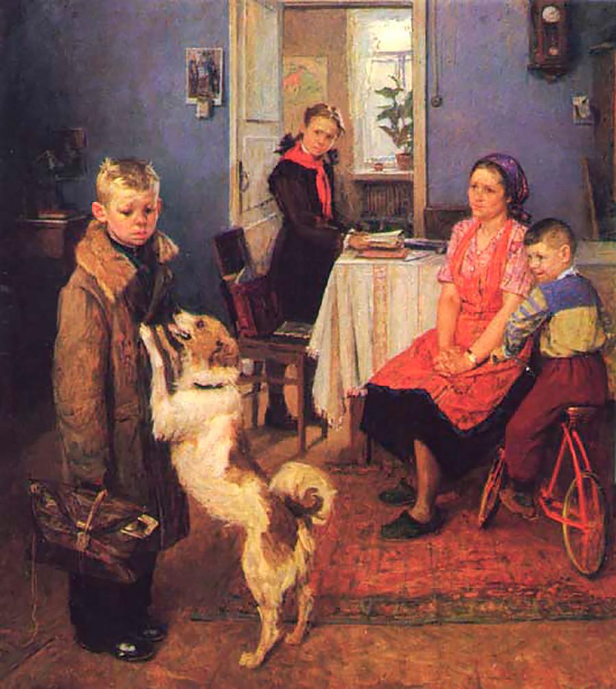 «Опять двойка!» Федор Решетников. 1952.
