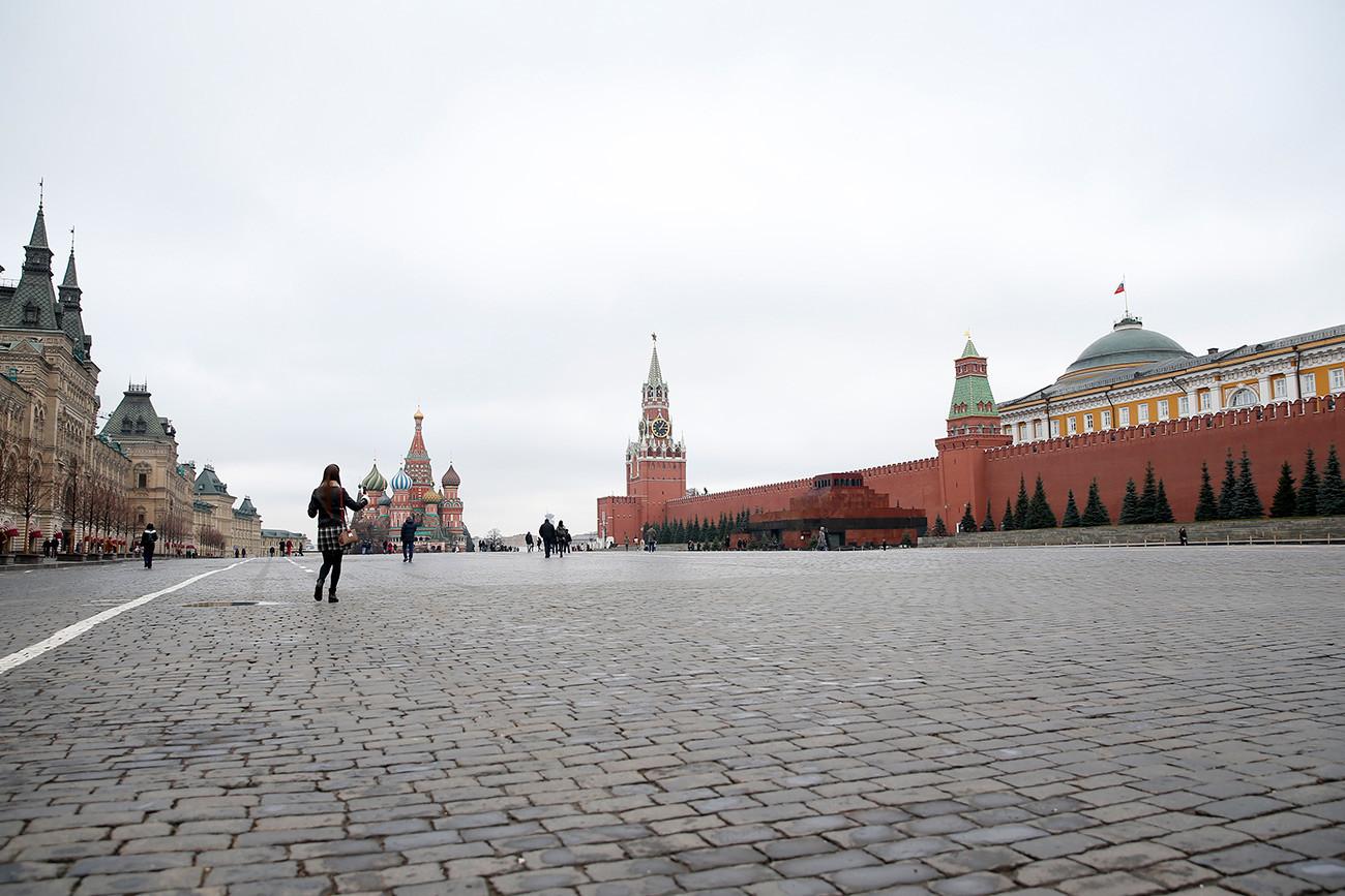 Црвениот плоштад на 10 март 2020 година