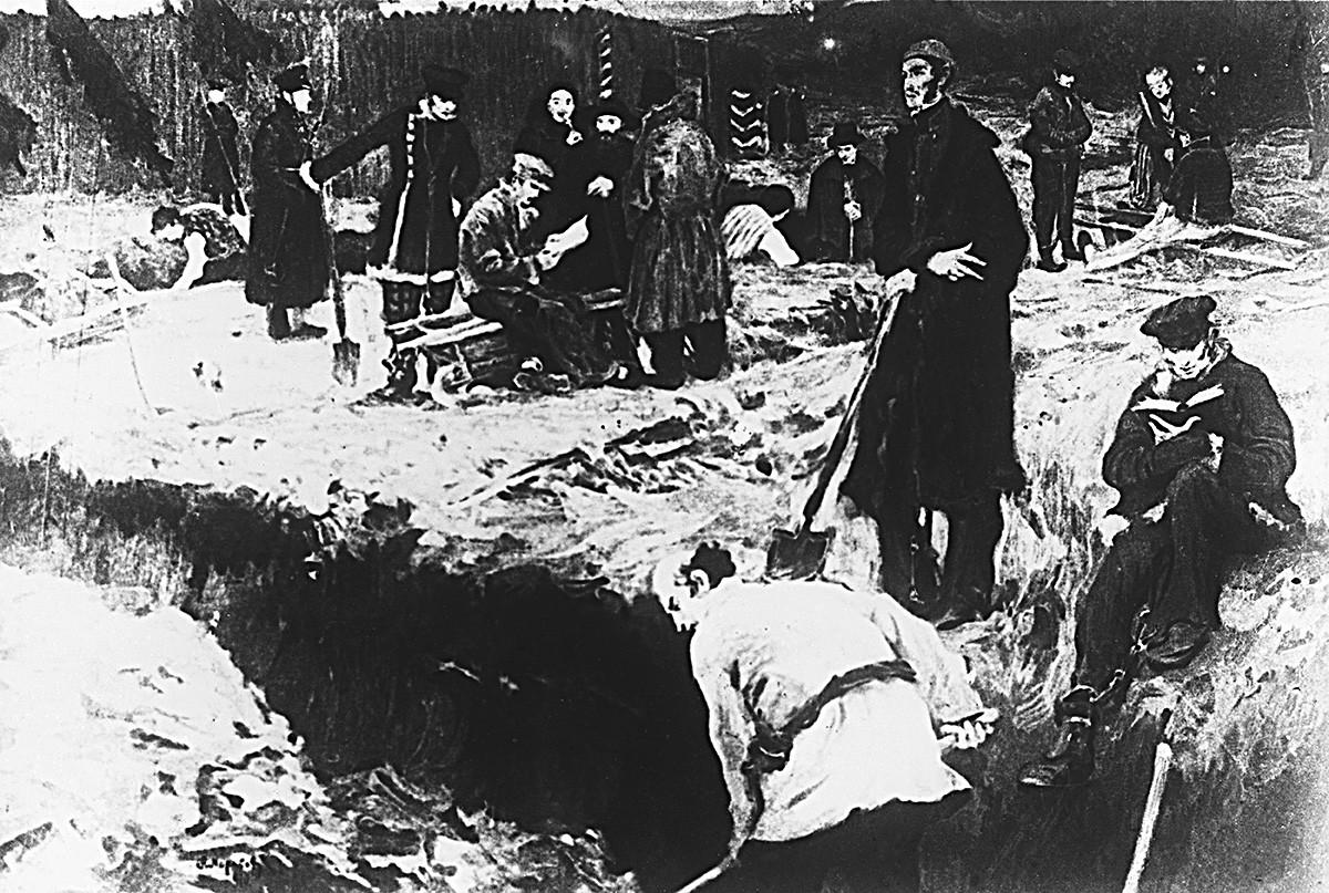 シベリア流刑中のデカブリストたち