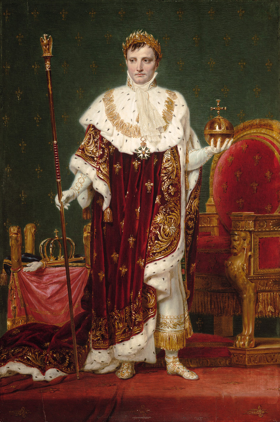 Kaisar Napoleon I (1769 – 1821) oleh Jacques-Louis David, 1807
