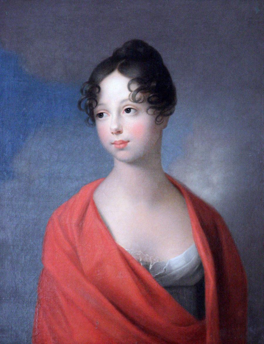 Ekaterina Pavlovna dari Rusia oleh Johann Friedrich August Tischbein.