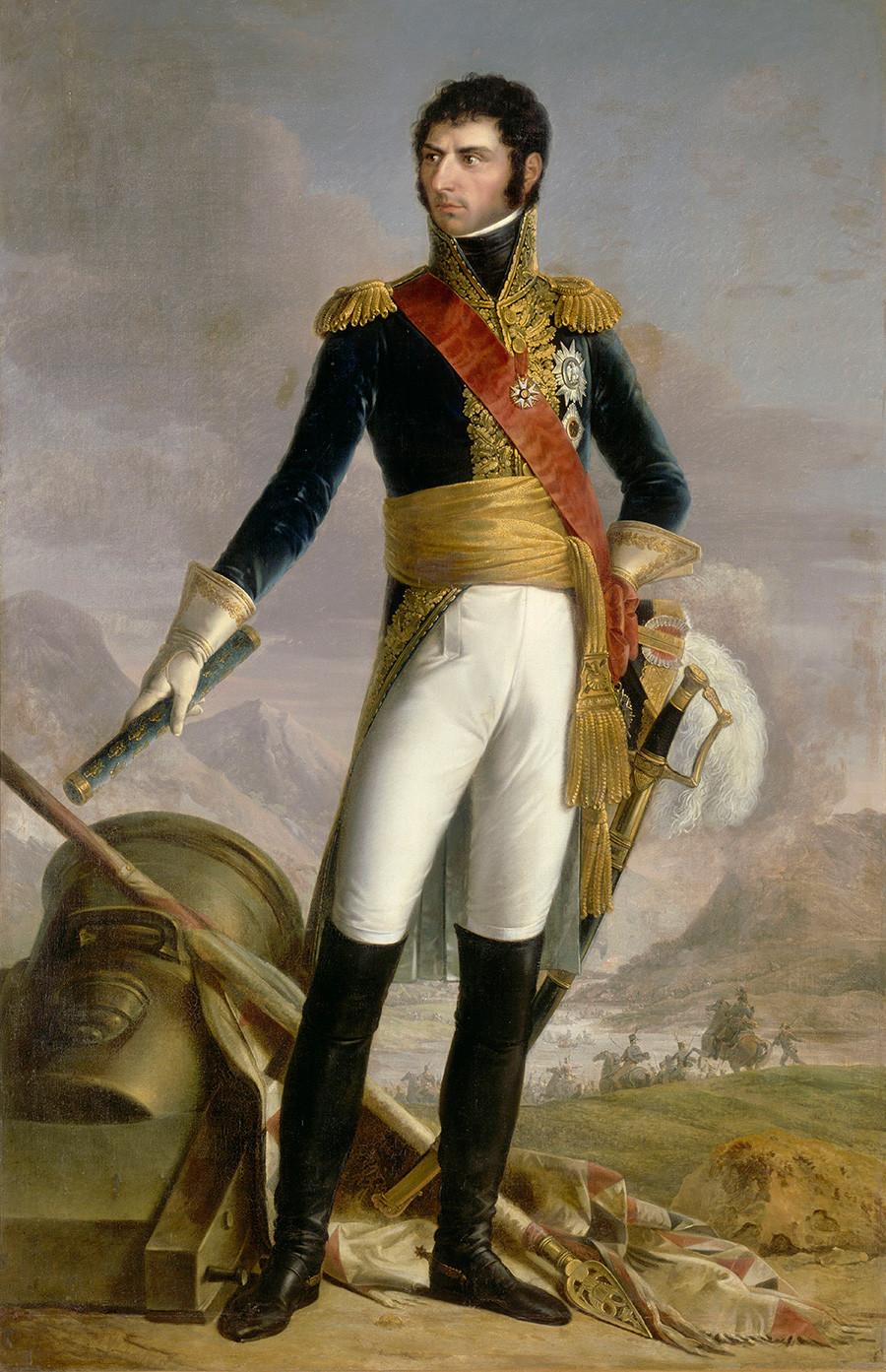 Jean Baptiste Bernadotte, seorang marsekal Prancis, raja Swedia dan Norwegia, 1818, dalam lukisan karya Francois Joseph Kinson.
