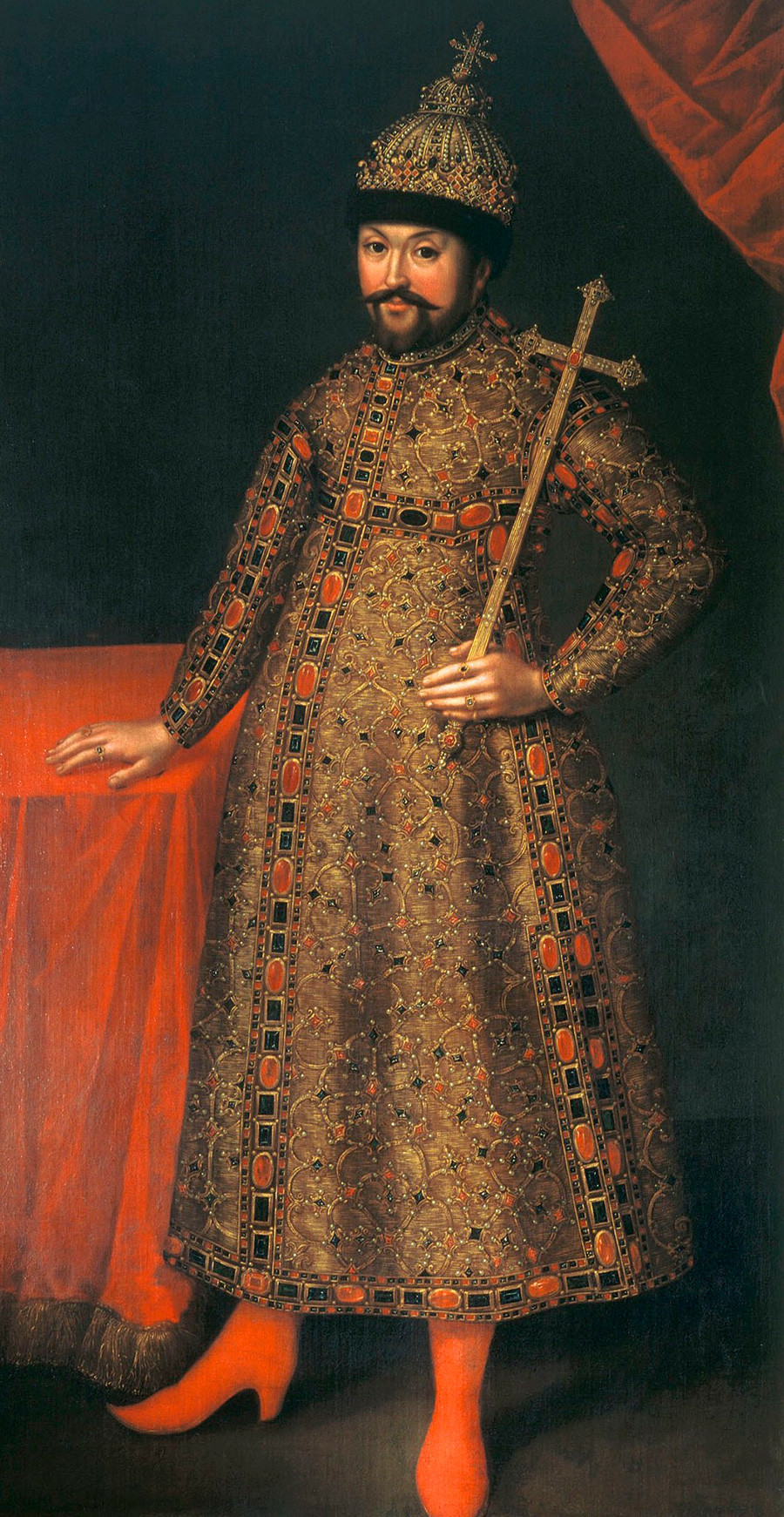 'Portrait of Tsar Mikhail Fyodorovich' by Johann Heinrich Wedekind (1674-1736)