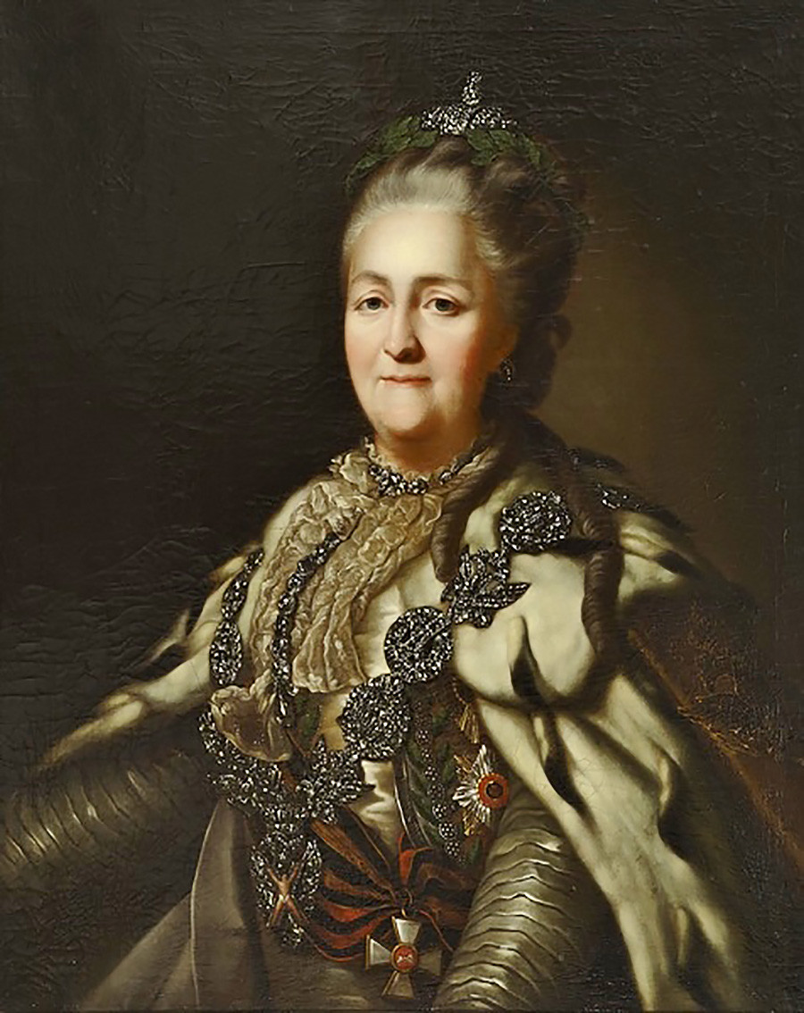 'Portrait of Empress Catherine II' by unknown painter, 1782