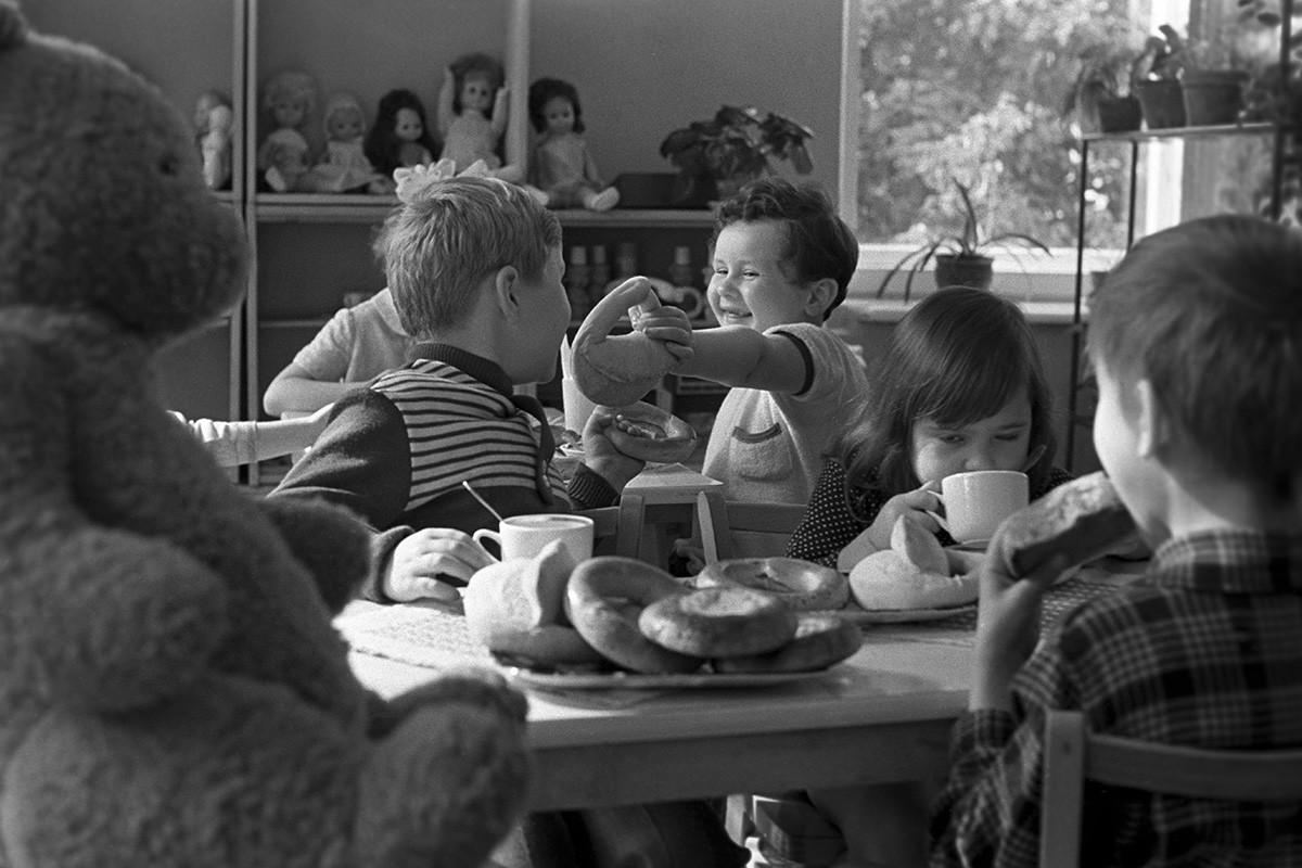 Poldnik en un jardín de infancia