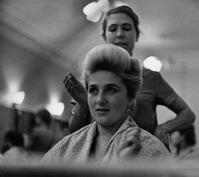 At the hairdressers, 1965