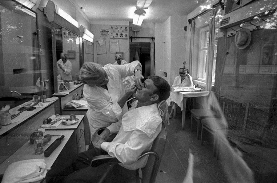 At the hairdressers, 1971